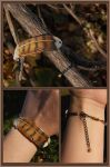 Young Red-Tailed Hawk Feather - Leather Bracelet by windfalcon