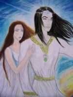 Earendil and Elwing detail by Gala-maia