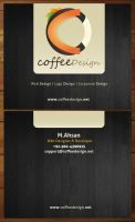 CoffeeDesign business card by ahsanpervaiz