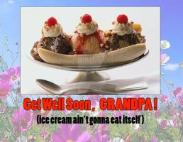 Get Well Grandpa (ice cream ain't gonna eat itself by medek1