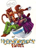 mad hatter birthday by taintedsilence