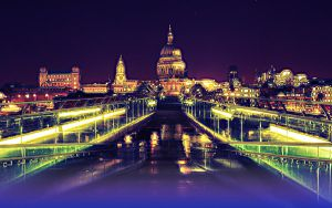 ST Pauls cathedral at night by Pyramidal