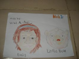 Emily and Little Bear- best friends by Wael-sa