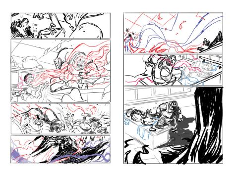 coucou page 7 and 8 storyboard by Tayfunsezer