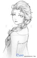 Elsa sketch by RueYumi