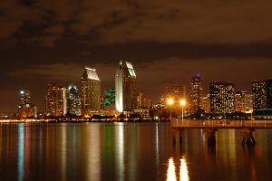 San Diego night view II by esee