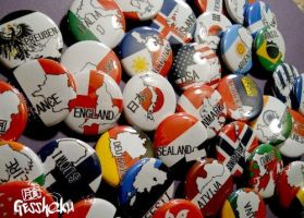 Nations Buttons by gesshoku-designs