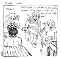 Artistic Etiquette by SometimesDrawings