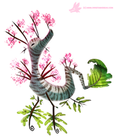 Daily Paint #1036. Spring Sea-Dragon by Cryptid-Creations