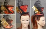 Asian Inspired Mad Hatter Mini Hat Fascinator by AbsolutelyFascinated