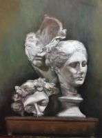 Still life oil painting : 'Michelangelo's dream' by Jagroar
