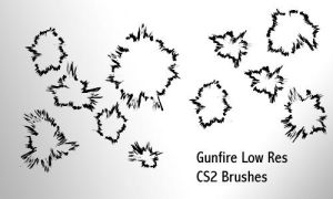 Gunfire - Low Res Brushes by screentones