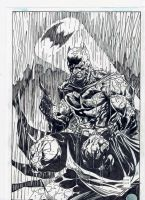 Batman Under the Rain by CharlesHdez
