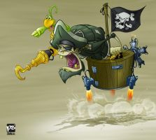 pirate colored by psdeluxe