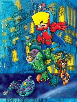 Super Boboy Graphic Novel Page by Reinard