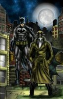 Batman and Rorschach by c-crain by MatthewLosure