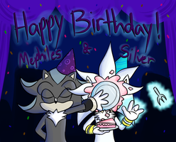 Mephiles and Silver's B-Day by Candy-Swirl