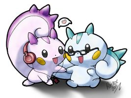 Pachirisu Couple by Hairac