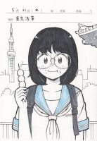 School trip student in Asakusa by aragon-11