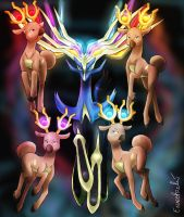 Four Stantlers of Xerneas