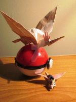 Spearow and Fearow Origami by Saku-Senpai