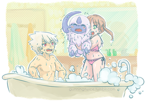Bath Time! (SoMa+Absol) by Pr0perty0fS0ul