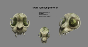 DAY 307. Sidhe - Props - Skull Rotation by Cryptid-Creations