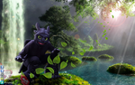 Toothless At The Waterfall by FurryDanzZ