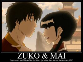 Zuko and Mai - Married Life Demote by Sailmaster-Seion