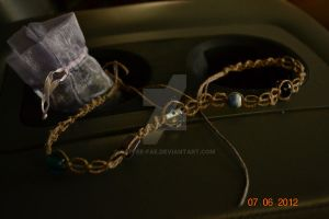 Hemp bracelet/necklace by Coffee-Fae
