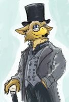 Fluffygryphon the gentleman by Eltharion