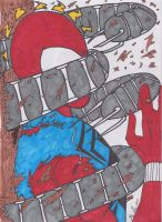 Scarlet Spider DANGER by Algelis