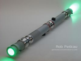 Dual Bladed Ascend Lightsaber by Madcow-Genesis