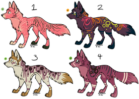 Assorted Canine Designs Batch 25 (CLOSED) by ChamberedNoctilus