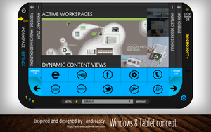 Windows 8 Tablet Concept by andreascy
