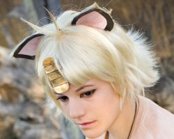 Meowth Wig Open for Comission by TemaTime