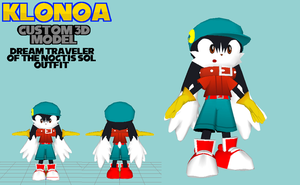 Klonoa Custom 3D Model - Noctis Sol Outfit by OrdoMandalore