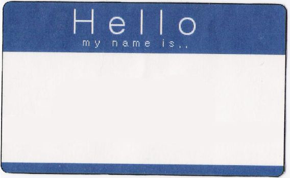 hello my name is by habbi-stock