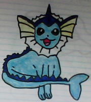 Vaporeon drawing by SusanLucarioFan16