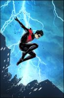 Nightwing #29 p5 color warm up by Doug Garbark by DougGarbark