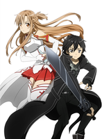 kirito and asuna by Quantia13