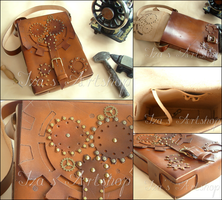 Steampunk Map Case Shoulder Bag by izasartshop