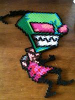 Invader ZIM Perler Bead by cowseatrainbows