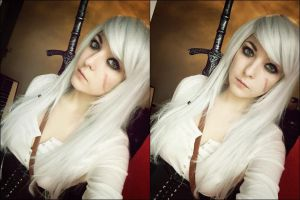 Ciri The Witcher 3 Cosplay WIP long hair version by Dragunova-Cosplay