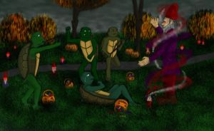 Turtle luck - TMNT kids fight gnome by QueenAvalanche