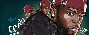 50 CENT Vector Signature by mikevectores
