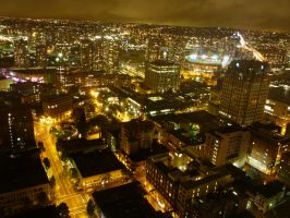 Vancouver at Night 1 by raindroppe