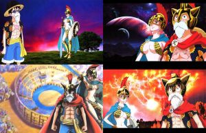 Luffy and Rebecca Top Four Special Wallpapers by weissdrum