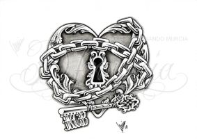 Heart lock and key by dfmurcia
