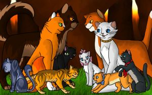 Aristocratic Warrior Cats by SilverCanDraw